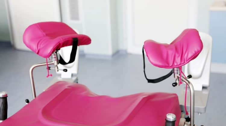 Gynecological chair used in assisted reproductive treatment